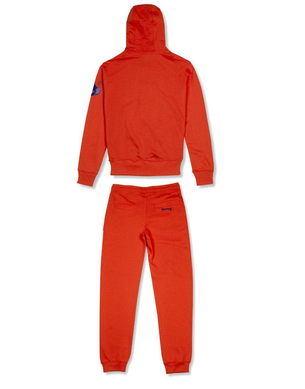 money clothing signature money logo orange hooded  tracksuit
