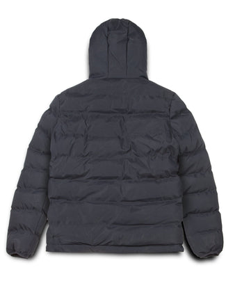LADIES EMERTON HOODED PUFFER JACKET NAVY
