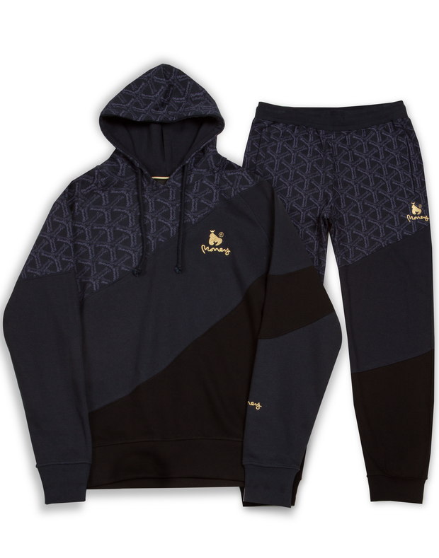 MONEY CLOTHING SWISH CUT HOOD TRACK NAVY
