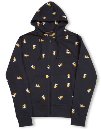 MONEY CLOTHING APE MONO ZIP HOOD NAVY