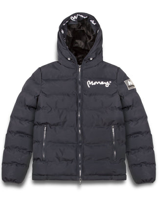 MENS EMERTON HOODED PUFFER JACKET NAVY