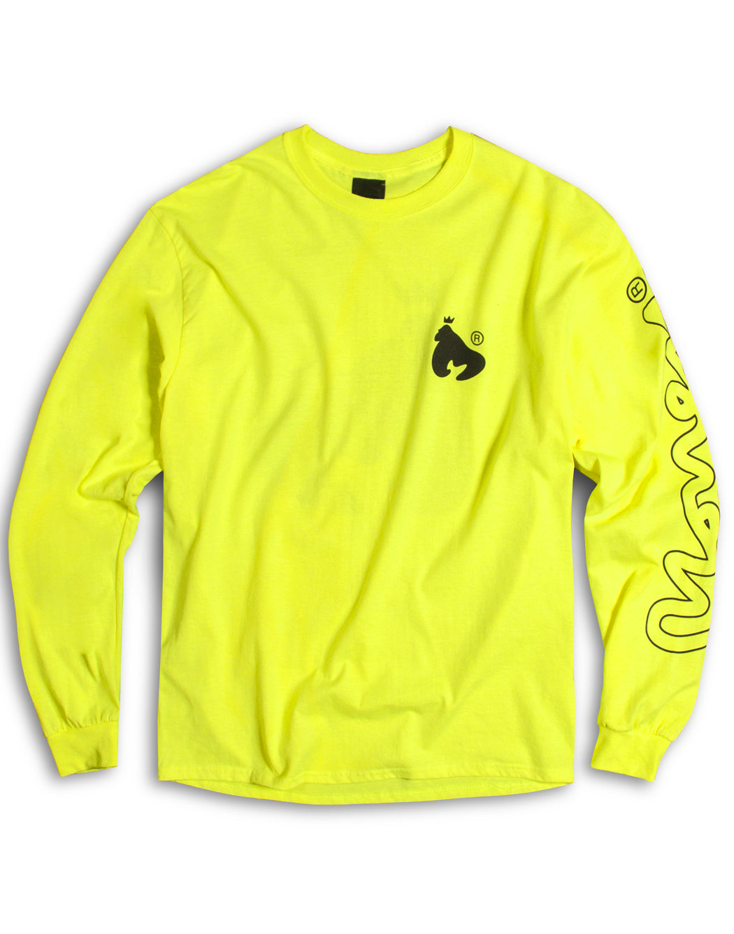 Money Clothing neon ape logo l/s tee