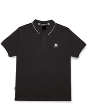 CLEAR PATCH LOGO POLO BLACK