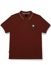 CLEAR PATCH LOGO POLO RED