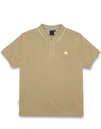 CLEAR PATCH LOGO POLO SAND