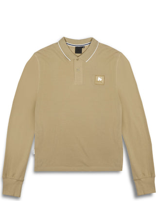 CLEAR PATCH LOGO L/S POLO SAND