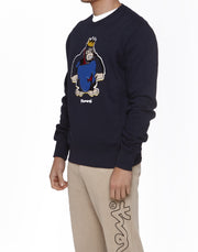 KING 'M' EMBROIDERY CREW NAVY
