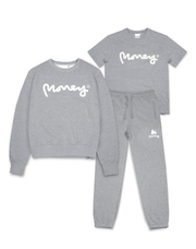 MONEY CLOTHING GREY SIG APE CREW TRACK 3PACK