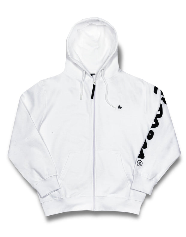 WMNS MONEY CHOP SIG ZIP HOOD WHITE