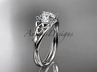 Platinum Celtic Trinity Knot Wedding Ring Engagement Ring Ct7189