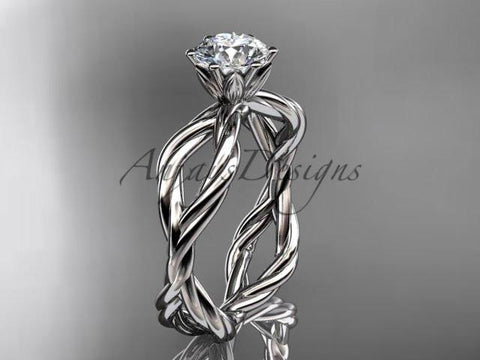 Anjay`s Designs Moissanite Rope Rings