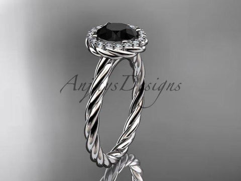 Anjay`s Designs Black Diamond Rope Engagement Rings