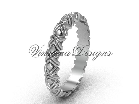14k white gold wedding band VD10011