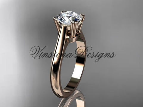 14k rose gold wedding ring, engagement ring VD10058
