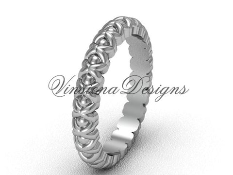 14kt white gold wedding band VD1008