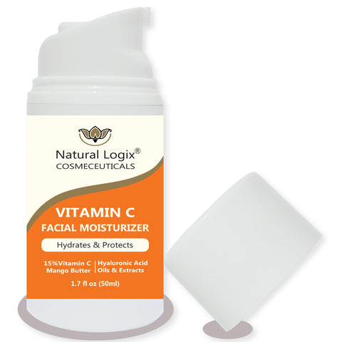 (24) Vitamin C Moisturizer in 1.7 oz (50ml) Airless Pump Bottles