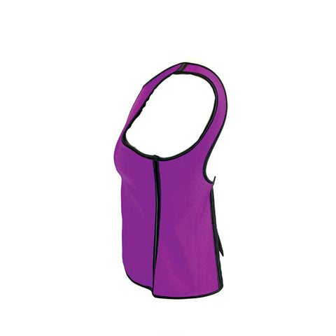 Waist Trainer with Shoulder Straps - Purple