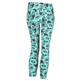 Patterned Yoga Legging Scrollwork Green (Final Sale)