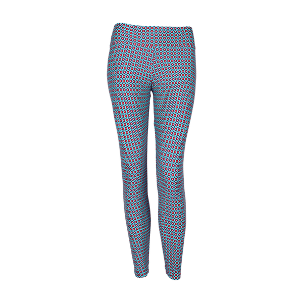 Extra Long Patterned Yoga Legging Misty Dawn (Final Sale)