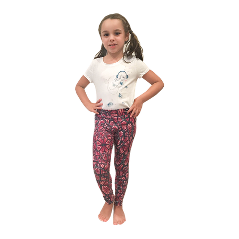 Mini Me Patterned Yoga Legging Butterfly Wings