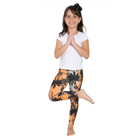 MiniMe Patterned Yoga Legging Tropical Sunset