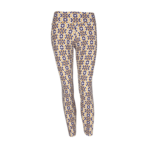 Patterned Yoga Legging Royals (Final Sale)