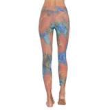 Patterned Yoga Legging Safari Gold (Final Sale)