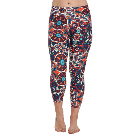 Patterned Yoga Legging Magique Mosaique (Final Sale)