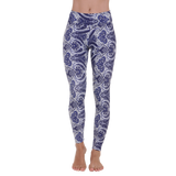 Patterned Yoga Legging Peaceful Ashtanga