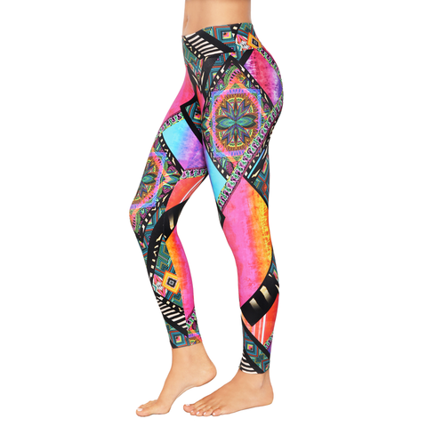 Patterned Yoga Legging Illusionism Window