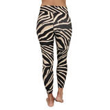 Patterned Yoga Legging Zebra Ivory