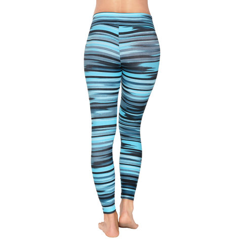 Patterned Yoga Legging Green Spectrum (Final Sale)