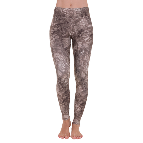 Patterned Yoga Legging Gold Python (Final Sale)