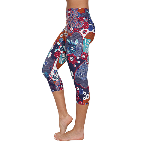 Patterned Yoga Capri Camellia (Final Sale)