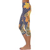 Patterned Yoga Capri Jungle Flowers (Final Sale)