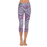 Patterned Yoga Capri Dream Catcher