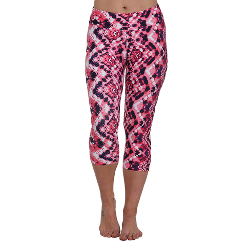 Patterned Yoga Capri Esthesia (Final Sale)