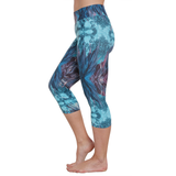 Patterned Yoga Capri Wild Feathers (Final Sale)