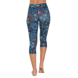 Patterned Yoga Capri Field of Dreams (Final Sale)