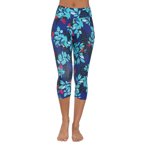 Patterned Yoga Capri Rainforest (Final Sale)