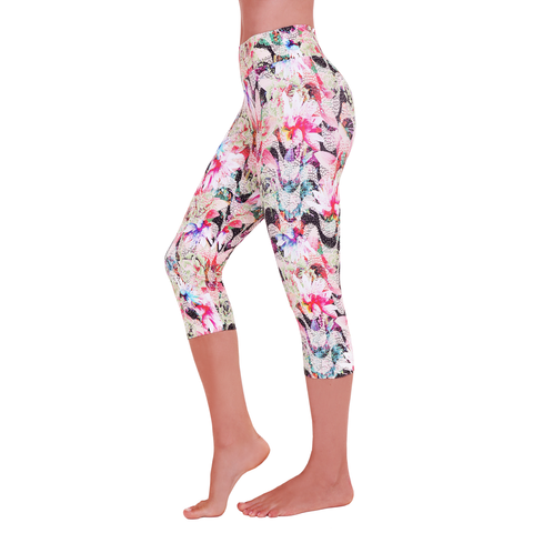 Patterned Yoga Capri My Bossa Nova