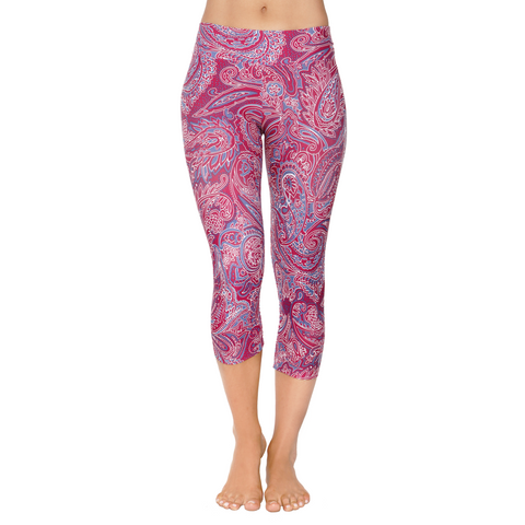 Patterned Yoga Capri Yama