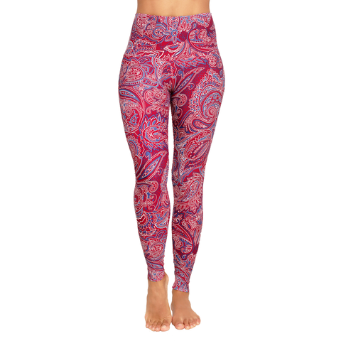 Wide Waistband Patterned Yoga Legging Yama (Final Sale)