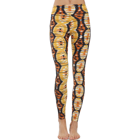 Extra Long Patterned Yoga Legging Wild Roots