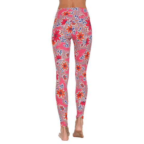 Extra Long Patterned Yoga Legging Bella Donna Floral (Final Sale)