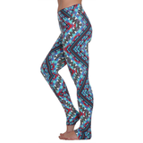 Extra Long Patterned Yoga Legging Tribe Ornaments (Final Sale)
