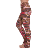 Extra Long Patterned Yoga Legging Natural Beauty (Final Sale)