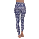 Wide Waistband Patterned Yoga Legging Peaceful Ashtanga