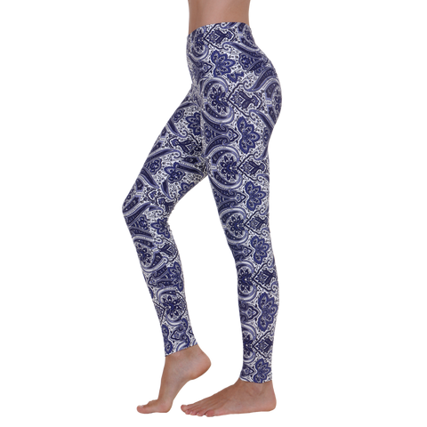 Wide Waistband Patterned Yoga Legging Peaceful Ashtanga  (Final Sale)