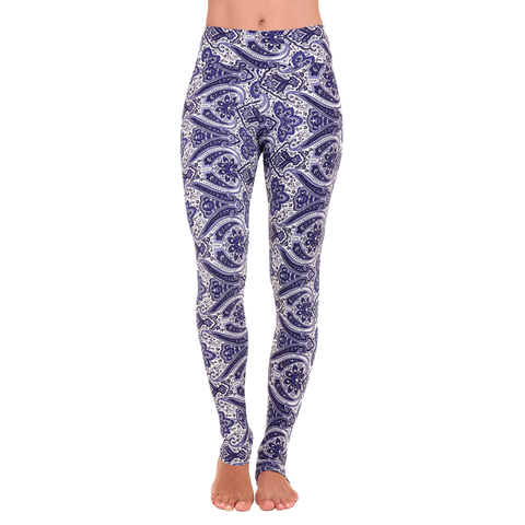 Extra Long Patterned Yoga Legging Peaceful Ashtanga